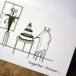 Wedding cake card (Anonymity range)