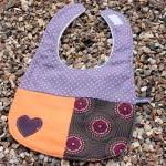 Baby bib and burp set - (purple and..