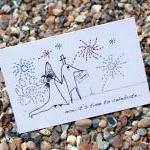A6 Wedding fireworks card (anonymit..