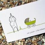 A6 Christening card - green (Anonym..