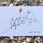 A6 Over the hill birthday card (ano..