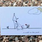 A6 Walk in the park card (anonymity..