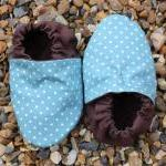 Baby booties, Aqua mini spots 3-9 m..