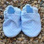 Baby booties, Baby blue mini spots ..