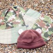 Bib, burp cloth and hat set - CUSTOM ORDER, RESERVED