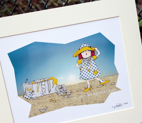 "Illustrative print - Molly's imagination (12"" x 10"" / 305mm x 255mm)"
