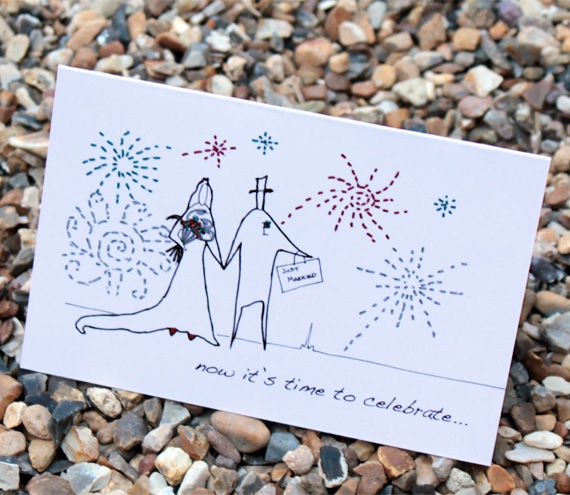 A6 Wedding fireworks card (anonymity range)