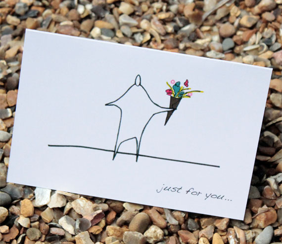 A6 Just for you card (anonymity)