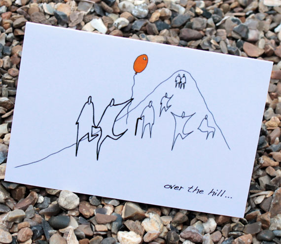 A6 Over The Hill Birthday Card Anonymity Range On Luulla