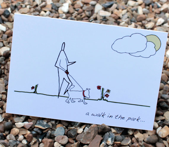 A6 Walk in the park card (anonymity range)