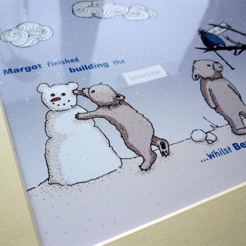 """Snowbear illustrative print - 8.5"""" x 6.5"""" / 215mm x 165mm"""