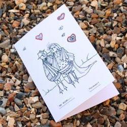 Be mine card (Detailed doodles range)