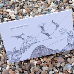 Never too far away card (detailed doodles range)