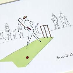 "Cricket Anonymity Illustrative print (10"" x 12"" / 255mm x 305mm)"