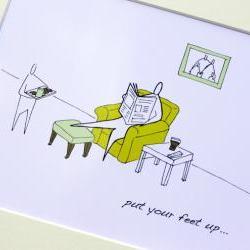"Dad's rest, Anonymity Illustrative print (10"" x 12"" / 255mm x 305mm)"