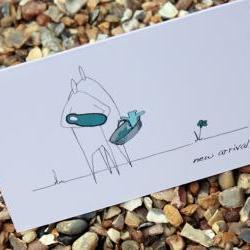 A6 New baby arrival card - blue (Anonymity range)